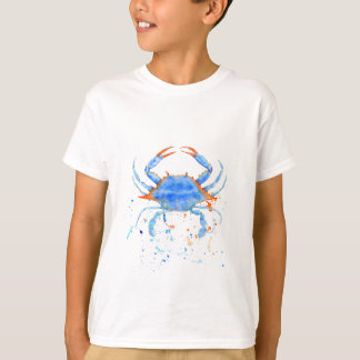 Watercolor blue crab paint splatter T-Shirt