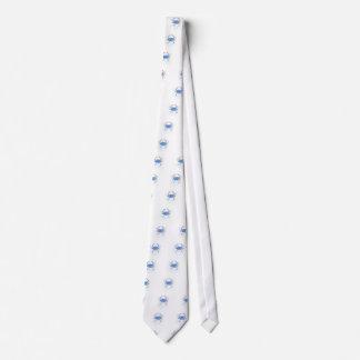 Watercolor blue crab paint splatter tie