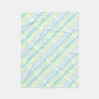 Watercolor Blue Green Azur Fleece Blanket