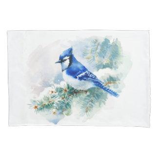 Watercolor Blue Jay (1 side) Pillowcase