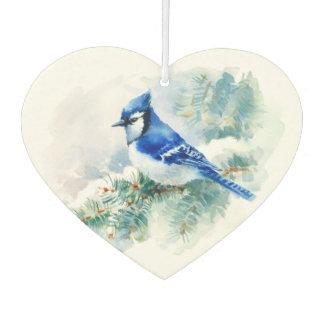 Watercolor Blue Jay Car Air Freshener