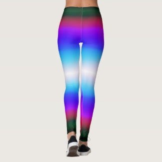 Watercolor Blue Purple Green Colorful Leggings