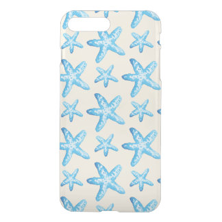 Watercolor Blue Starfish Pattern iPhone 7 Plus Case