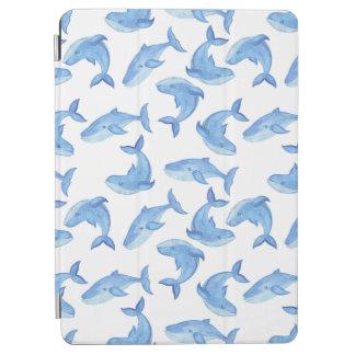 Watercolor Blue Whale Pattern