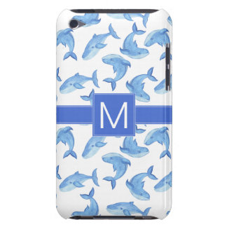 Watercolor Blue Whale Pattern Barely There iPod Cover