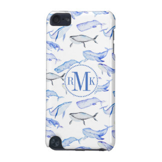 Watercolor Blue Whale Pattern iPod Touch 5G Case