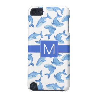 Watercolor Blue Whale Pattern iPod Touch (5th Generation) Case