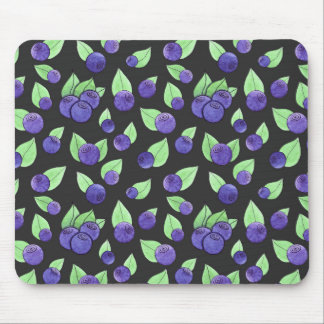 Watercolor Blueberry Mouse Pad