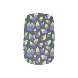 Watercolor Blueberry Nail Art