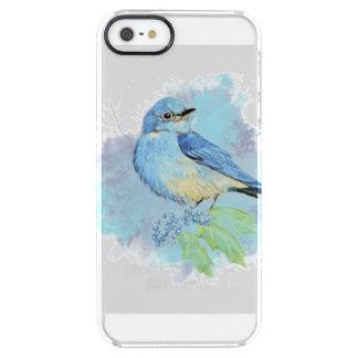 Watercolor Bluebird Garden Bird Art Clear iPhone SE/5/5s Case