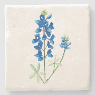 Watercolor Bluebonnet 6 Stone Coaster