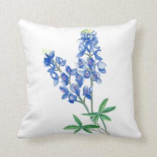 Watercolor Bluebonnets Cushion
