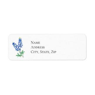 Watercolor Bluebonnets Return Address Label