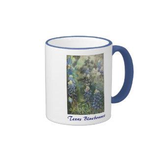 Watercolor Bluebonnets Ringer Mug