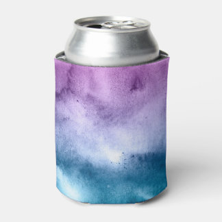 Watercolor Blues and Purples - All Options Can Cooler