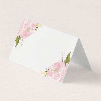 Watercolor Blush Pink Peonies Floral Card