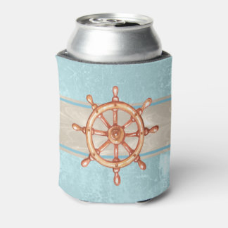 Watercolor Boat Helm Wheel ID385 Can Cooler
