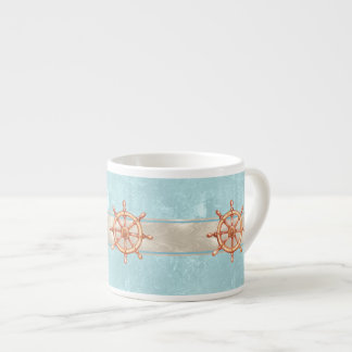 Watercolor Boat Helm Wheel ID385 Espresso Cup