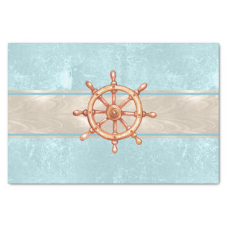 Watercolor Boat Helm Wheel ID385 Tissue Paper