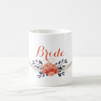 Watercolor Boho Bride Mug