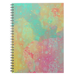 Watercolor Boho Chic Dreamcatcher notebook