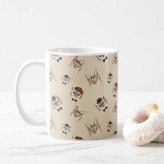 Watercolor Boho Hipster Cats Classic Coffee Mug