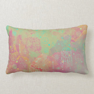 Watercolor Boho Tribal Chic Dream Catcher Pillow