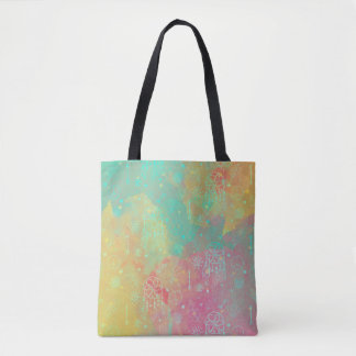 Watercolor Boho Tribal Chic Dreamcatcher Tote Bag