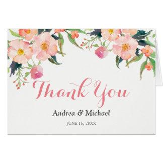 Watercolor Botanical Garden Floral Thank You Card