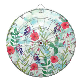 watercolor Botanical garden VI Dartboard