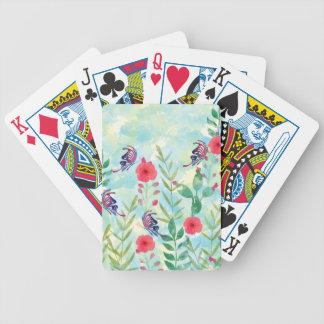 watercolor Botanical garden VI Poker Deck