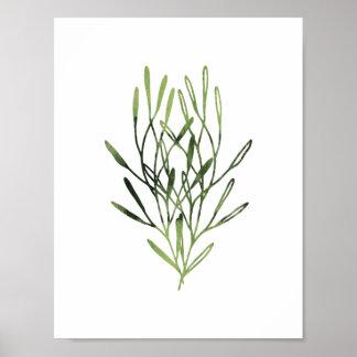 Watercolor Botanical Print Trio