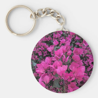 Watercolor-Bougainvillea Basic Round Button Key Ring