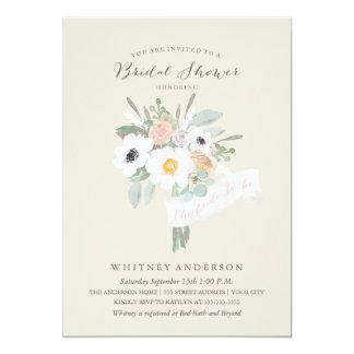 Watercolor Bouquet Bridal Shower Invitation