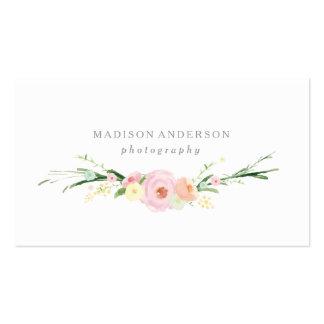 Watercolor Bouquet   Business Cards