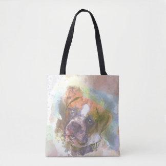 Watercolor Boxer Dog Tote Bag