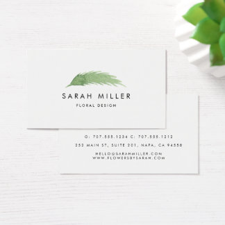 Watercolor Branch Business Card