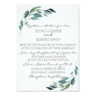 Watercolor Branch Wedding Invitation
