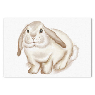 Watercolor Brown Bunny Tissue Paper