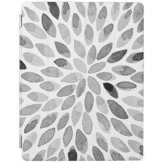 Watercolor brush strokes – black and white iPad cover