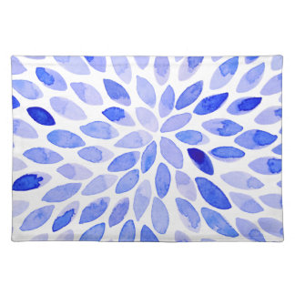 Watercolor brush strokes - blue placemat