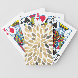Watercolor brush strokes - neutral bicycle playing cards
