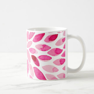 Watercolor brush strokes – pink palette coffee mug
