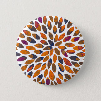 Watercolor brush strokes - rusty effect 6 cm round badge