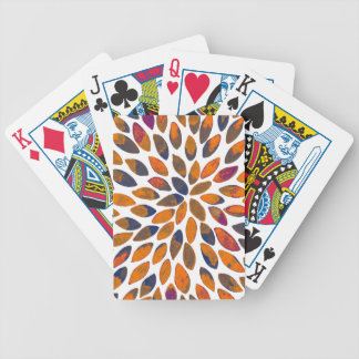 Watercolor brush strokes - rusty effect bicycle playing cards