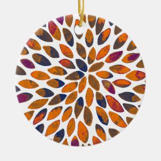 Watercolor brush strokes – rusty effect ceramic ornament
