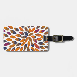 Watercolor brush strokes - rusty effect luggage tag