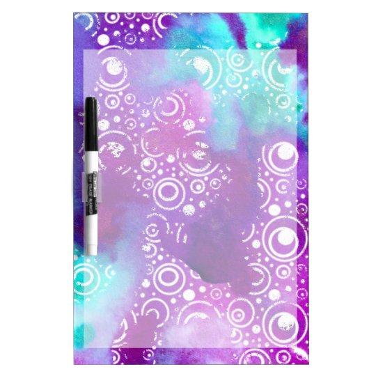 Watercolor Bubbles Purple/turquoise Dry Erase Boards