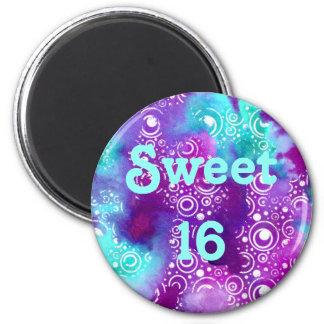 Watercolor Bubbles Purple/turquoise Magnet