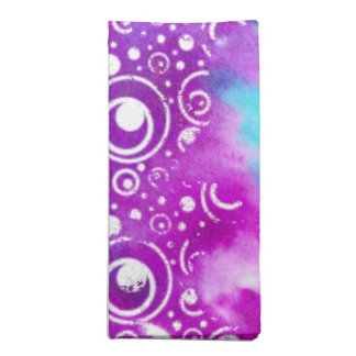Watercolor Bubbles Purple/turquoise Napkin